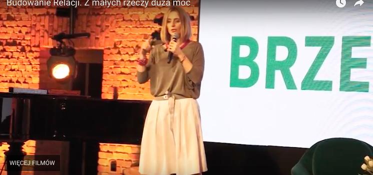 """Wystąpienie Agnieszki Maruda-Sperczak: """"Budowanie Relacji. Zmałych rzeczy duża moc"""""""